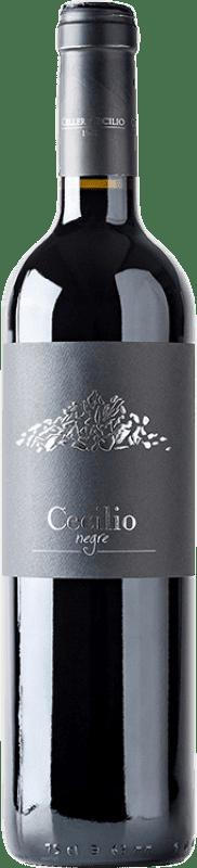 15,95 € Envío gratis | Vino tinto Cecilio Negre Joven D.O.Ca. Priorat Cataluña España Garnacha, Cabernet Sauvignon, Cariñena Botella 75 cl