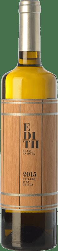 19,95 € | White wine Guilla Edith Crianza D.O. Empordà Catalonia Spain Grenache Tintorera, Grenache White Bottle 75 cl