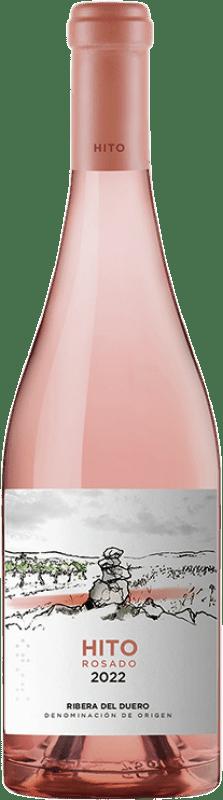 9,95 € 免费送货 | 玫瑰酒 Cepa 21 Hito D.O. Ribera del Duero 卡斯蒂利亚莱昂 西班牙 Tempranillo 瓶子 75 cl