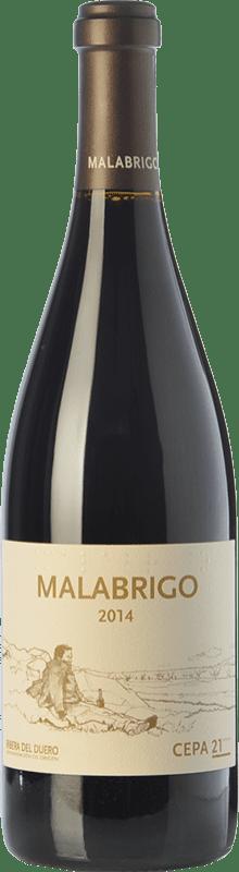64,95 € 免费送货 | 红酒 Cepa 21 Malabrigo Reserva D.O. Ribera del Duero 卡斯蒂利亚莱昂 西班牙 Tempranillo 瓶子 75 cl