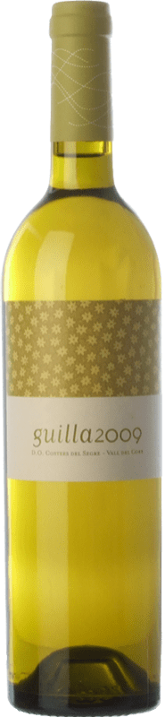 9,95 € Free Shipping | White wine Cercavins Guilla Crianza D.O. Costers del Segre Catalonia Spain Macabeo Bottle 75 cl