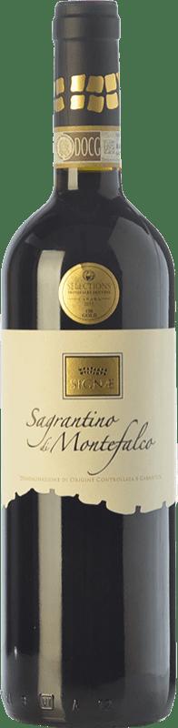 28,95 € Free Shipping | Red wine Cesarini Sartori Signae D.O.C.G. Sagrantino di Montefalco Umbria Italy Sagrantino Bottle 75 cl