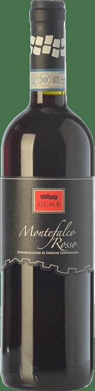12,95 € Free Shipping | Red wine Cesarini Sartori Signae Rosso D.O.C. Montefalco Umbria Italy Merlot, Cabernet Sauvignon, Sangiovese, Sagrantino Bottle 75 cl