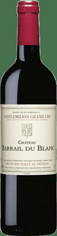22,95 € Free Shipping | Red wine Château Barrail du Blanc Crianza A.O.C. Saint-Émilion Grand Cru Bordeaux France Merlot, Cabernet Franc Bottle 75 cl