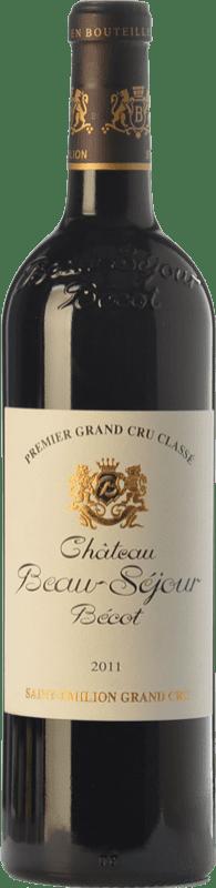 81,95 € Free Shipping | Red wine Château Joanin Bécot Crianza A.O.C. Saint-Émilion Grand Cru Bordeaux France Merlot, Cabernet Sauvignon, Cabernet Franc Bottle 75 cl