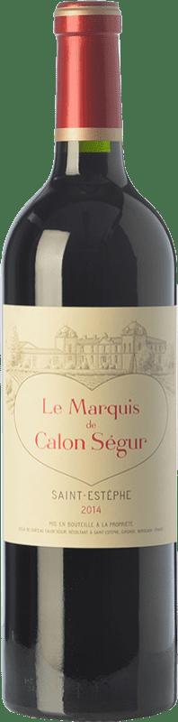 32,95 € 免费送货 | 红酒 Château Calon Ségur Le Marquis de Calon A.O.C. Saint-Estèphe 波尔多 法国 Merlot, Cabernet Sauvignon, Cabernet Franc, Petit Verdot 瓶子 75 cl