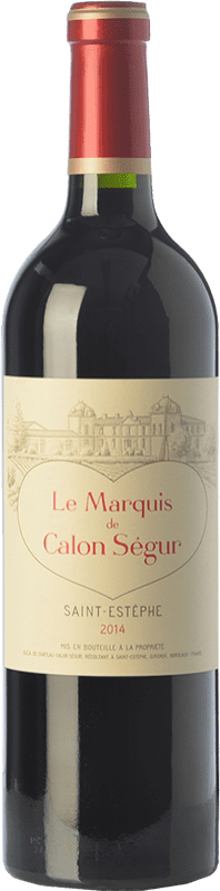 32,95 € Envío gratis | Vino tinto Château Calon Ségur Le Marquis de Calon A.O.C. Saint-Estèphe Burdeos Francia Merlot, Cabernet Sauvignon, Cabernet Franc, Petit Verdot Botella 75 cl