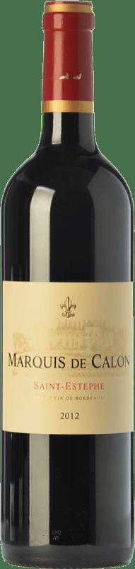 39,95 € Envío gratis | Vino tinto Château Calon Ségur Marquis de Calon Crianza A.O.C. Saint-Estèphe Burdeos Francia Merlot, Cabernet Sauvignon, Cabernet Franc, Petit Verdot Botella 75 cl