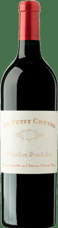 239,95 € Free Shipping | Red wine Château Cheval Blanc Le Petit Cheval Crianza 1999 A.O.C. Saint-Émilion Bordeaux France Merlot, Cabernet Sauvignon Bottle 75 cl