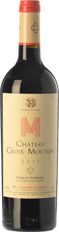 9,95 € Free Shipping | Red wine Château Croix-Mouton Crianza A.O.C. Bordeaux Supérieur Bordeaux France Merlot, Cabernet Franc, Petit Verdot Bottle 75 cl