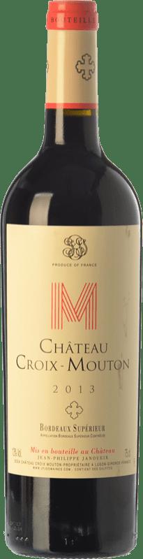 9,95 € Envío gratis | Vino tinto Château Croix-Mouton Crianza A.O.C. Bordeaux Supérieur Burdeos Francia Merlot, Cabernet Franc, Petit Verdot Botella 75 cl