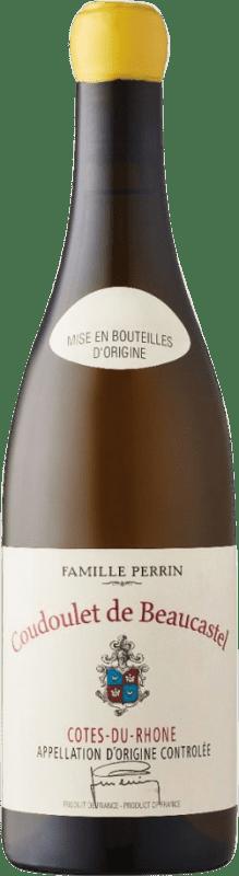 23,95 € Free Shipping | White wine Château Beaucastel Coudoulet Blanc A.O.C. Côtes du Rhône Rhône France Viognier, Marsanne, Bourboulenc, Clairette Blanche Bottle 75 cl