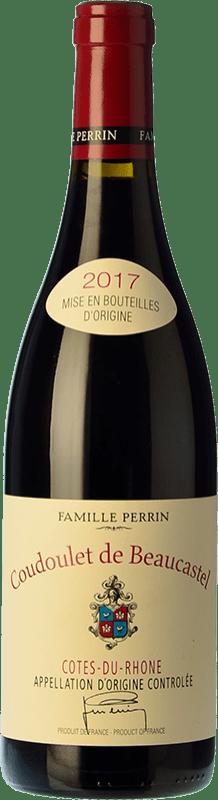 31,95 € Free Shipping | Red wine Château Beaucastel Coudoulet Rouge Joven A.O.C. Côtes du Rhône Rhône France Syrah, Grenache, Mourvèdre, Cinsault Bottle 75 cl