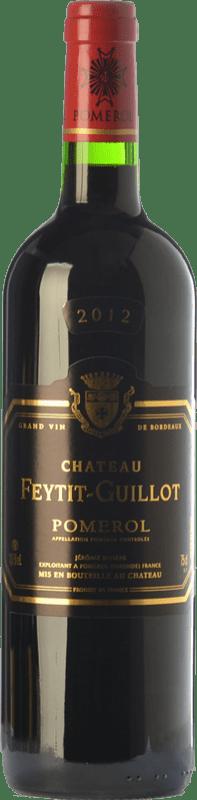 31,95 € Envío gratis | Vino tinto Château Feytit-Guillot Crianza A.O.C. Pomerol Burdeos Francia Merlot, Cabernet Sauvignon, Cabernet Franc Botella 75 cl