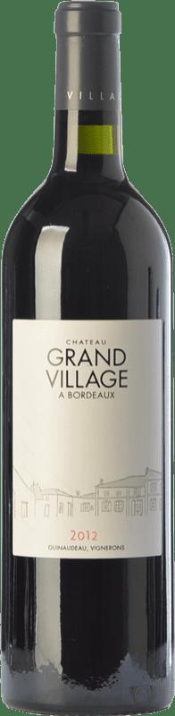 15,95 € Free Shipping | Red wine Château Grand Village Crianza A.O.C. Bordeaux Bordeaux France Merlot, Cabernet Franc Bottle 75 cl