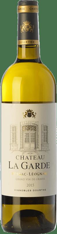 29,95 € Free Shipping | White wine Château La Garde Blanc Crianza A.O.C. Pessac-Léognan Bordeaux France Sauvignon White, Sémillon, Sauvignon Grey Bottle 75 cl