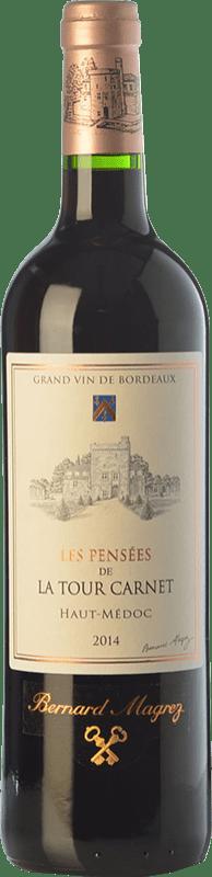 17,95 € Free Shipping | Red wine Château La Tour Carnet Les Pensées Crianza A.O.C. Haut-Médoc Bordeaux France Merlot, Cabernet Sauvignon, Cabernet Franc, Petit Verdot Bottle 75 cl
