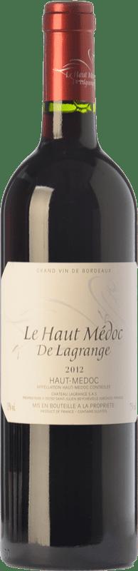 19,95 € Envío gratis | Vino tinto Château Lagrange Le Haut Médoc Crianza A.O.C. Haut-Médoc Burdeos Francia Merlot, Cabernet Sauvignon Botella 75 cl