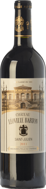 81,95 € 免费送货 | 红酒 Château Léoville Barton Reserva A.O.C. Saint-Julien 波尔多 法国 Merlot, Cabernet Sauvignon, Cabernet Franc 瓶子 75 cl
