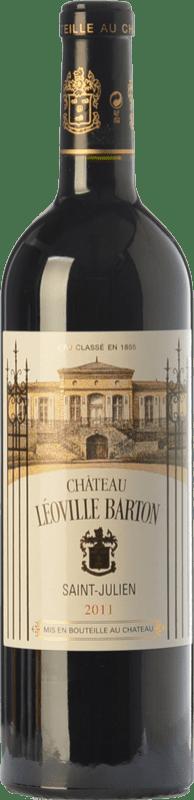 81,95 € Envío gratis | Vino tinto Château Léoville Barton Reserva A.O.C. Saint-Julien Burdeos Francia Merlot, Cabernet Sauvignon, Cabernet Franc Botella 75 cl