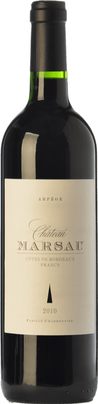 9,95 € | Red wine Château Marsau Arpège Crianza A.O.C. Côtes de Bordeaux Bordeaux France Merlot Bottle 75 cl