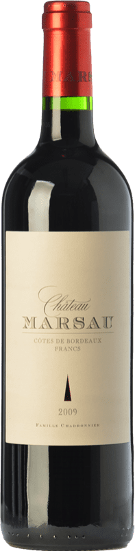 21,95 € | Red wine Château Marsau Crianza A.O.C. Côtes de Bordeaux Bordeaux France Merlot Bottle 75 cl