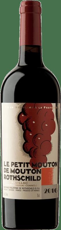 Red wine Château Mouton-Rothschild Le Petit Mouton Crianza A.O.C. Pauillac Bordeaux France Merlot, Cabernet Sauvignon Bottle 75 cl