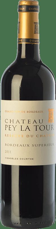 11,95 € Envío gratis | Vino tinto Château Pey La Tour Réserve du Château Reserva A.O.C. Bordeaux Supérieur Burdeos Francia Merlot, Cabernet Sauvignon, Petit Verdot Botella 75 cl