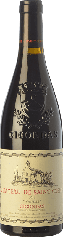53,95 € Free Shipping | Red wine Château Saint Cosme Valbelle Crianza A.O.C. Gigondas Rhône France Syrah, Grenache Bottle 75 cl