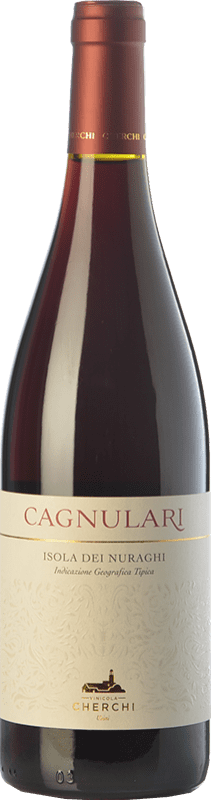 16,95 € Free Shipping | Red wine Cherchi I.G.T. Isola dei Nuraghi Sardegna Italy Cagnulari Bottle 75 cl