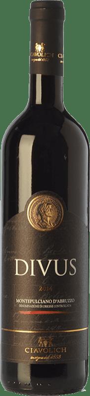 17,95 € Free Shipping | Red wine Ciavolich Divus D.O.C. Montepulciano d'Abruzzo Abruzzo Italy Montepulciano Bottle 75 cl