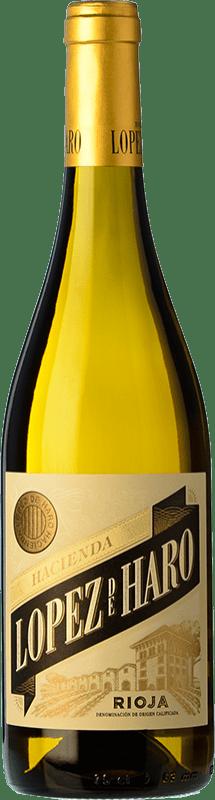 6,95 € 免费送货 | 白酒 Classica Hacienda López de Haro Barrica Crianza D.O.Ca. Rioja 拉里奥哈 西班牙 Viura 瓶子 75 cl