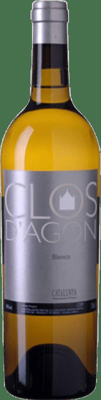 28,95 € Free Shipping | White wine Clos d'Agón D.O. Catalunya Catalonia Spain Roussanne, Viognier, Marsanne Bottle 75 cl