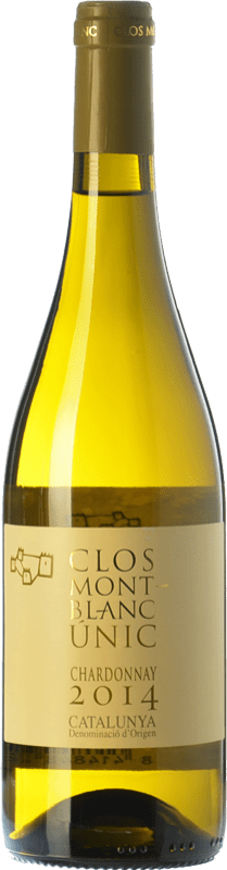14,95 € Free Shipping | White wine Clos Montblanc Únic Crianza D.O. Catalunya Catalonia Spain Chardonnay Bottle 75 cl