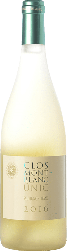11,95 € Free Shipping | White wine Clos Montblanc Únic D.O. Conca de Barberà Catalonia Spain Sauvignon White Bottle 75 cl