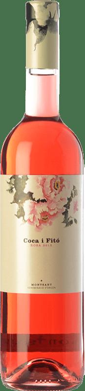 18,95 € Envío gratis | Vino rosado Coca i Fitó Rosa D.O. Montsant Cataluña España Syrah Botella 75 cl