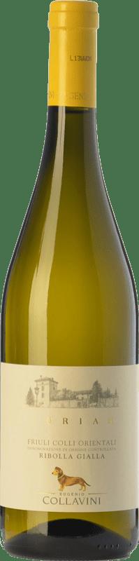 24,95 € Free Shipping | White wine Collavini Turian D.O.C. Colli Orientali del Friuli Friuli-Venezia Giulia Italy Ribolla Gialla Bottle 75 cl