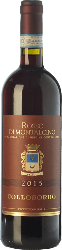 17,95 € Free Shipping | Red wine Collosorbo D.O.C. Rosso di Montalcino Tuscany Italy Sangiovese Bottle 75 cl
