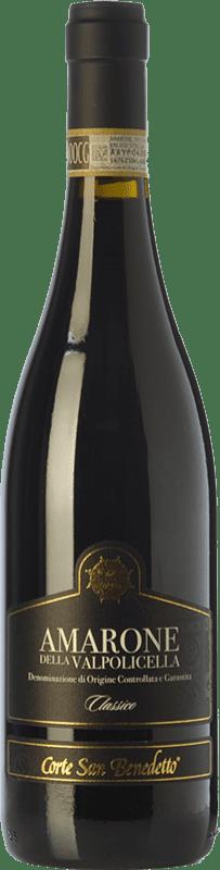 53,95 € Free Shipping | Red wine Corte San Benedetto Classico D.O.C.G. Amarone della Valpolicella Veneto Italy Corvina, Rondinella, Corvinone Bottle 75 cl