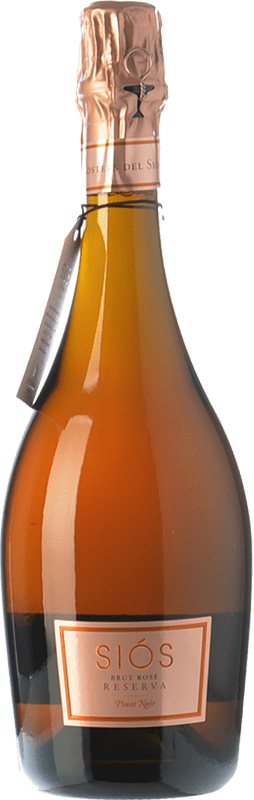 26,95 € | Rosé sparkling Costers del Sió Siós Rosé Brut Reserva Spain Pinot Black Bottle 75 cl