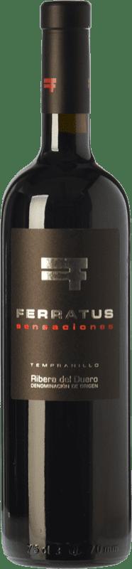 29,95 € Envío gratis | Vino tinto Cuevas Jiménez Ferratus Sensaciones Crianza D.O. Ribera del Duero Castilla y León España Tempranillo Botella 75 cl