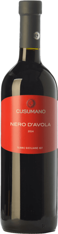 12,95 € Free Shipping | Red wine Cusumano I.G.T. Terre Siciliane Sicily Italy Nero d'Avola Bottle 75 cl