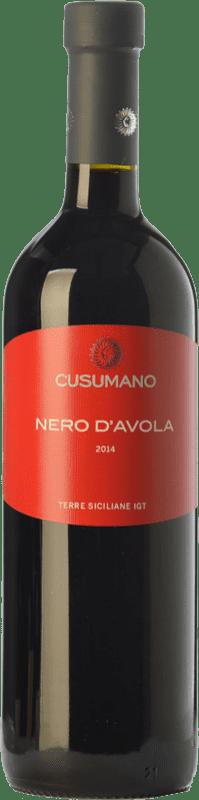 12,95 € Envío gratis | Vino tinto Cusumano I.G.T. Terre Siciliane Sicilia Italia Nero d'Avola Botella 75 cl