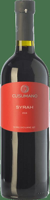 12,95 € Envío gratis | Vino tinto Cusumano I.G.T. Terre Siciliane Sicilia Italia Syrah Botella 75 cl