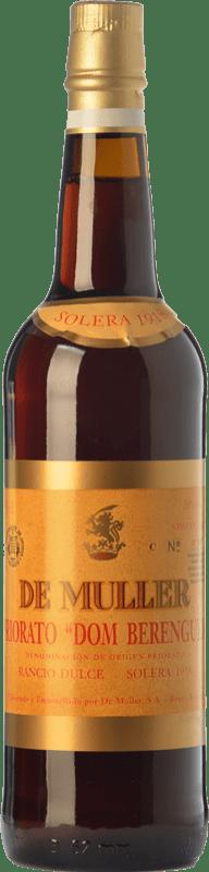 43,95 € Envío gratis | Vino dulce De Muller Dom Berenguer Solera 1918 D.O.Ca. Priorat Cataluña España Garnacha, Garnacha Blanca, Moscatel de Alejandría Botella 75 cl