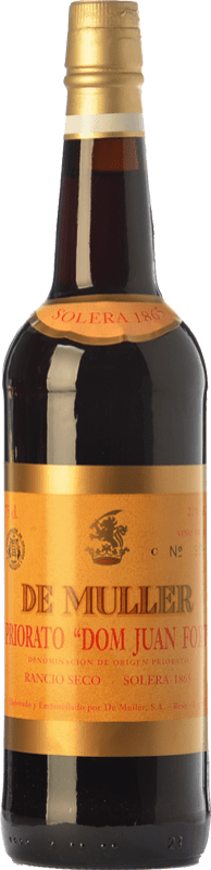 48,95 € 免费送货   强化酒 De Muller Dom Juan Fort Solera 1865 D.O.Ca. Priorat 加泰罗尼亚 西班牙 Grenache, Grenache White, Muscat of Alexandria 瓶子 75 cl