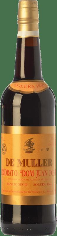 48,95 € Envío gratis | Vino generoso De Muller Dom Juan Fort Solera 1865 D.O.Ca. Priorat Cataluña España Garnacha, Garnacha Blanca, Moscatel de Alejandría Botella 75 cl