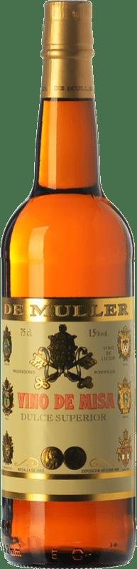 6,95 € | Sweet wine De Muller Vino de Misa D.O. Terra Alta Catalonia Spain Grenache White, Macabeo Bottle 75 cl