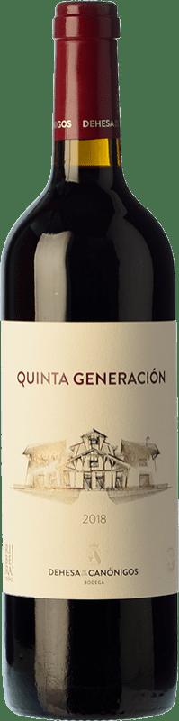 Free Shipping | Red wine Dehesa de los Canónigos Quinta Generación Joven 2016 D.O. Ribera del Duero Castilla y León Spain Tempranillo Bottle 75 cl