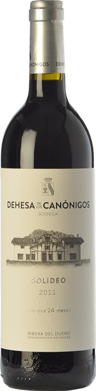 红酒 Dehesa de los Canónigos Solideo 24 Meses Reserva D.O. Ribera del Duero 卡斯蒂利亚莱昂 西班牙 Tempranillo, Cabernet Sauvignon, Albillo 瓶子 75 cl